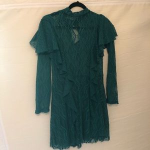 Green lace free People dress